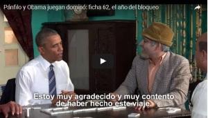 Obama y Pánfilo juegan dominó