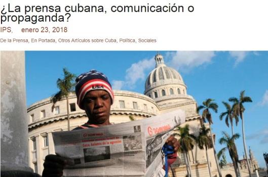 Artículo de la agencia IPSCuba replicado en Cartas desde Cuba por Fernando Ravsberg